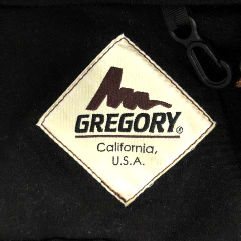 グレゴリー GREGORY バッグ ボディ ウエスト ロゴ 黒 /YI8 メンズ