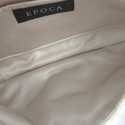 エポカ EPOCA パーティーバッグ クラッチ ハンド ビーズ 白 ホワイト /AK30 レディース
