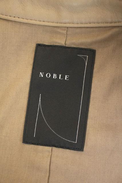 ノーブル NOBLE レザーライダースジャケット 羊革 36 ベージュ /AO ■OS レディース