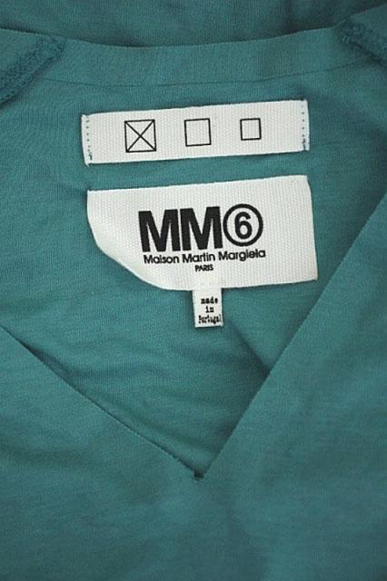 マルタンマルジェラ Martin Margiela 6 MM6 Maison Martin Margiela ノースリーブVネックワンピース ロング M ターコイズ グリーン  /AO ■OS レディース