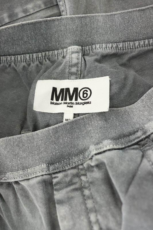 マルタンマルジェラ Martin Margiela 6 MM6 イージーデニムパンツ ジーンズ スキニー ストレッチ 42 グレー /YS ■OS レディース