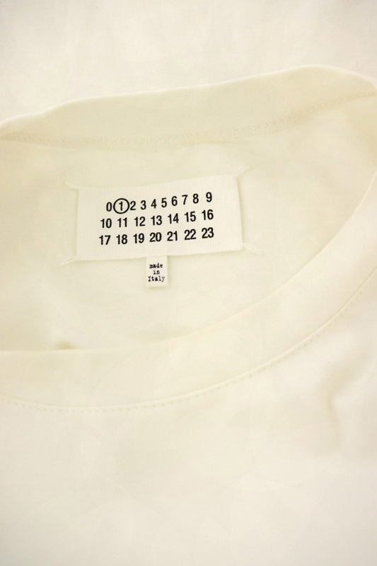 マルタンマルジェラ Martin Margiela 1 18SS カットワークデザインTシャツ カットソー 半袖 S 白 /HK ■OS レディース