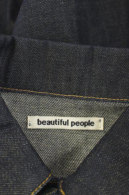 ビューティフルピープル beautiful people キッズ デニムジャケット ジージャン Gジャン 140 濃紺 ネイビー /ES ■OS キッズ