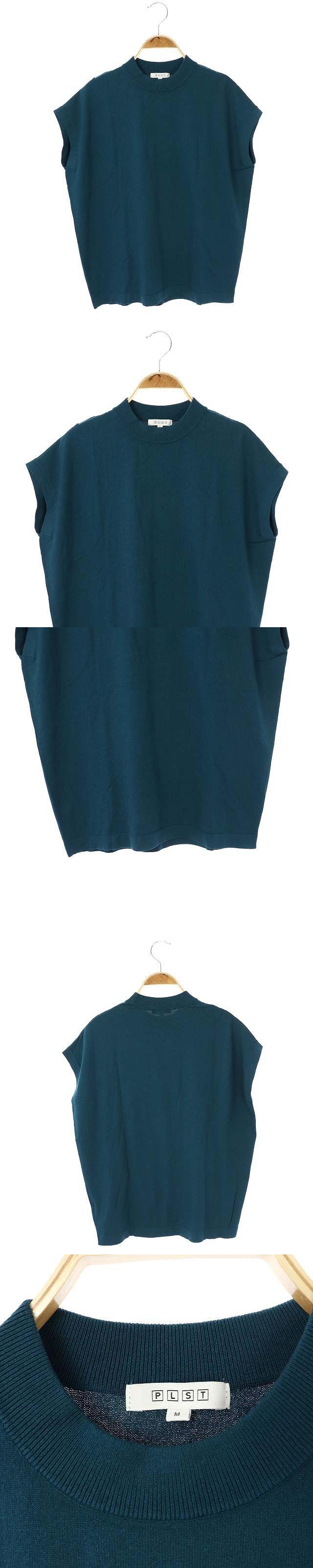 19AW クルーネックサマーニット カットソー 半袖 フレンチスリーブ M 深緑 ダークグリーン /ES ■OS