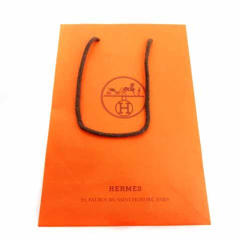 エルメス HERMES イスム バッファローホーン ネックレス 茶 ブラウン オレンジ /HZ1 ■OH レディース