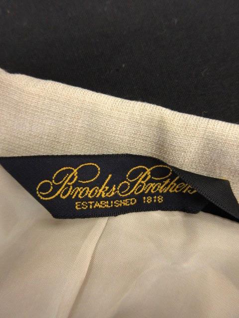 ブルックスブラザーズ BROOKS BROTHERS フォーマルスーツ 上下 セットアップ ジャケット ステンカラー ミドル丈 スカート 台形 ひざ丈 ウール混 7 ベージュ /NS2 レディース