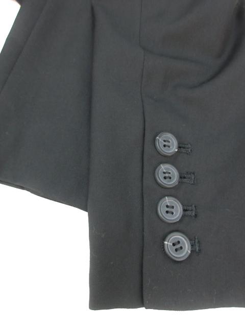 マウジー moussy スーツ ジャケット テーラード ミドル丈 シングル 総裏地 無地 2 黒 ブラック /FF12 レディース