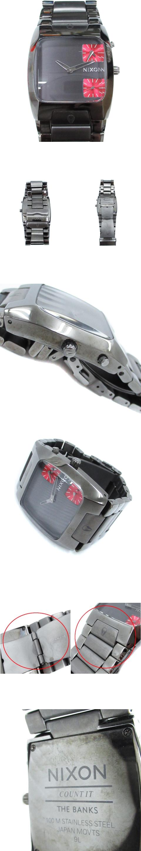 COUNT IT THE BANKS 腕時計 ウォッチ クォーツ 駆動方式 2針 ディアルタイム チャコールグレー 赤 レッド /FF50