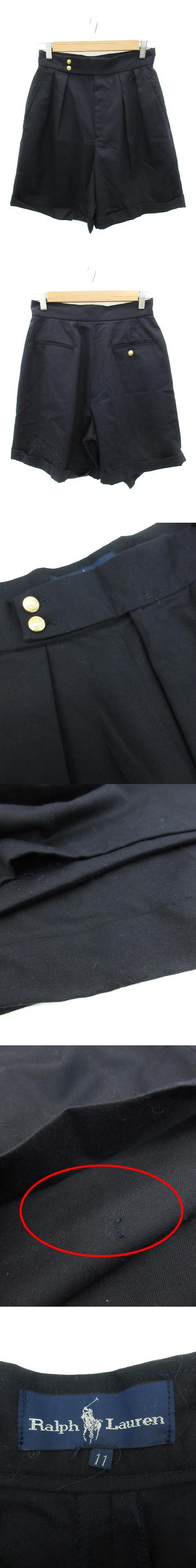 パンツ キュロット ショート 短パン ウール 11 紺 ネイビー /FF31
