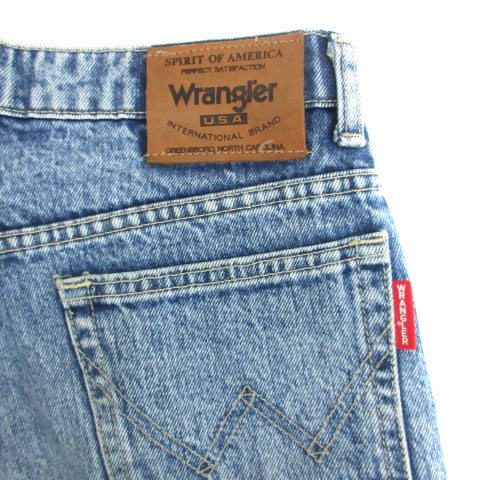 ラングラー WRANGLER パンツ デニム ジーンズ ストレート ケミカルウォッシュ アンクル丈 31 ライトブルー /SM21 メンズ