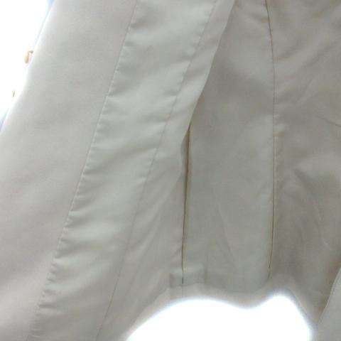 ボッシュ BOSCH スーツ セットアップ 上下 ジャケット ミドル丈 シングル スカート タイト ひざ丈 上38 下36 アイボリー /YK7 レディース