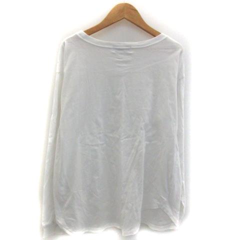 イエナ スローブ IENA SLOBE Tシャツ カットソー 長袖 ラウンドネック プリント ホワイト 白 /YM12 レディース