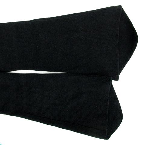 エポカ EPOCA Tシャツ カットソー 長袖 フレアスリーブ Uネック リブ ビーズ 40 黒 ブラック /SM15 レディース