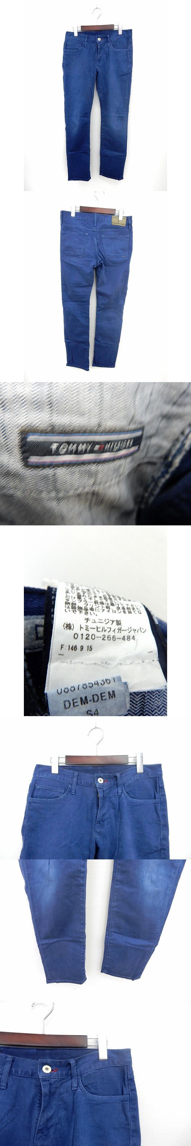 国内正規 パンツ デニム ジーンズ ロング スリム ジップフライ ポケット w30 ブルー /ST8