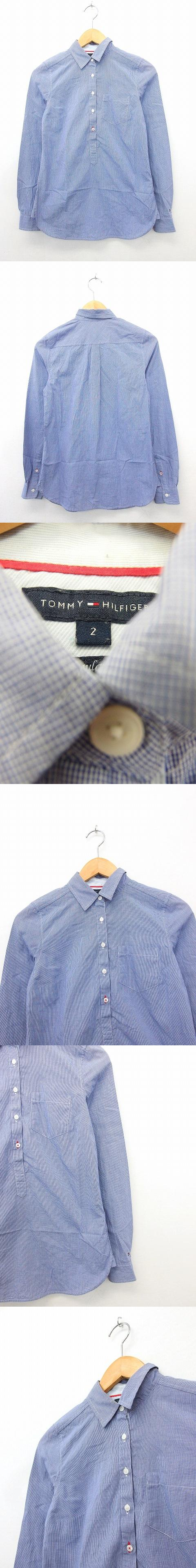 国内正規品 シャツ ブラウス 長袖 プルオーバー 綿 コットン 総柄 2 ブルー 青 /KT23