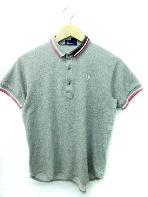 55d7d451dab5 フレッドペリー FRED PERRY ポロシャツ 半袖 S グレー メンズ 173 ...