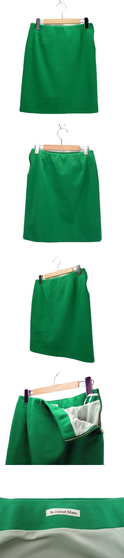 ポンチタイトスカート 38 緑