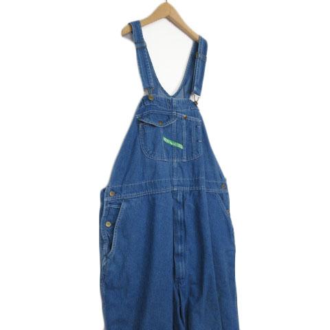 キイ KEY 大きいサイズ パンツ オーバーオール デニム 50 青 ブルー メンズ