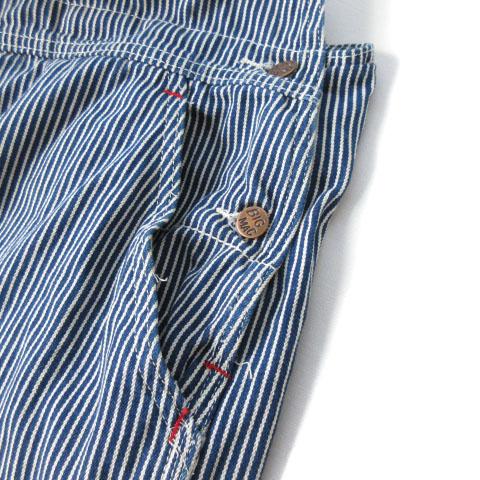 ビックマック BIGMAC 大きいサイズ パンツ オーバーオール ヒッコリー デニム 52 青 ブルー メンズ