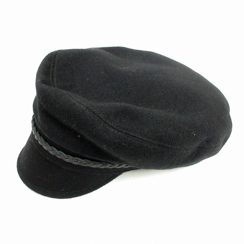 outlet store 16358 9903c グッチ GUCCI マリン帽 ウール 牛革 帽子 XL 黒 /MF メンズ