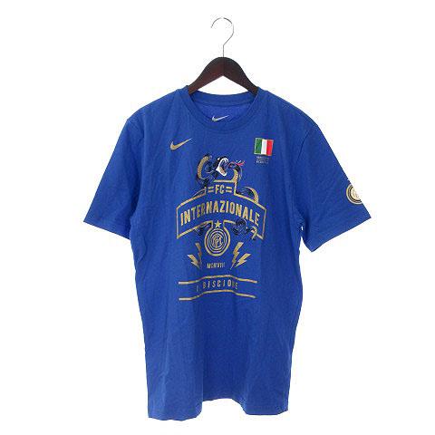 ナイキ Nike Tシャツ 半袖 Fc Internazionale イラスト ロゴ M 青 ブルー