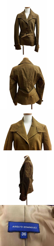 ジャケット テーラード シングル ベルト付 タブカフス 36 茶 ブラウン /HM46