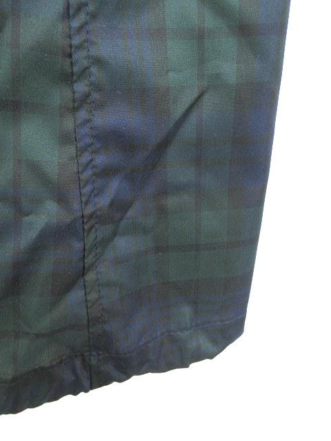 シンプリシテェ Simplicite レインコート ノーカラー チェック 9-11号 緑 グリーン /YK164 レディース