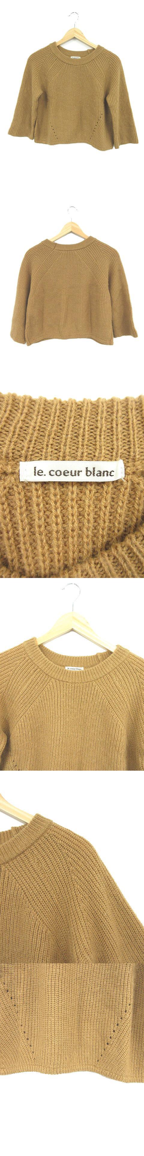 セーター ニット クルーネック 長袖 茶 ブラウン /NN185