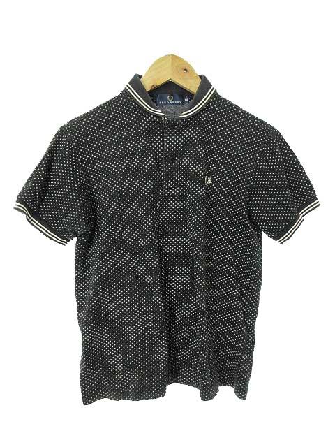 eed7bf0ce41b フレッドペリー FRED PERRY カットソー ポロシャツ 半袖 刺繍 ドット M 紺 ネイビー 白 ホワイト /JN27 レディース