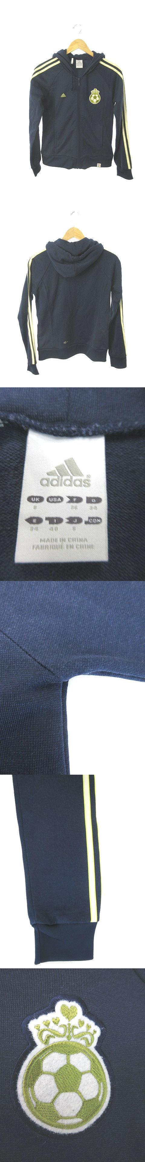パーカー ジップアップ ワンポイント 長袖 紺 ネイビー 黄色 イエロー /YK15