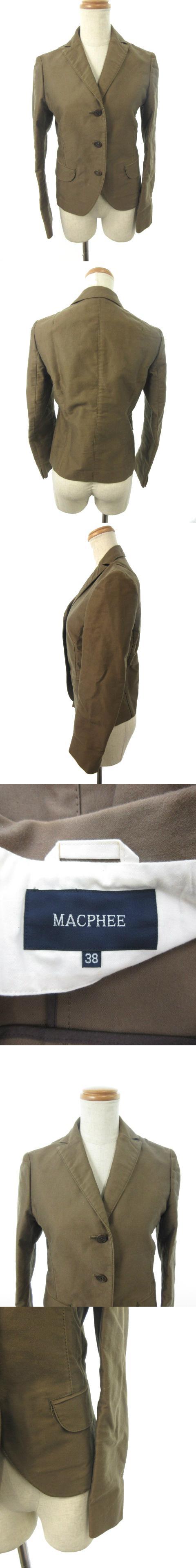 ジャケット テーラード 背抜き シングル 38 茶 ブラウン /RK16