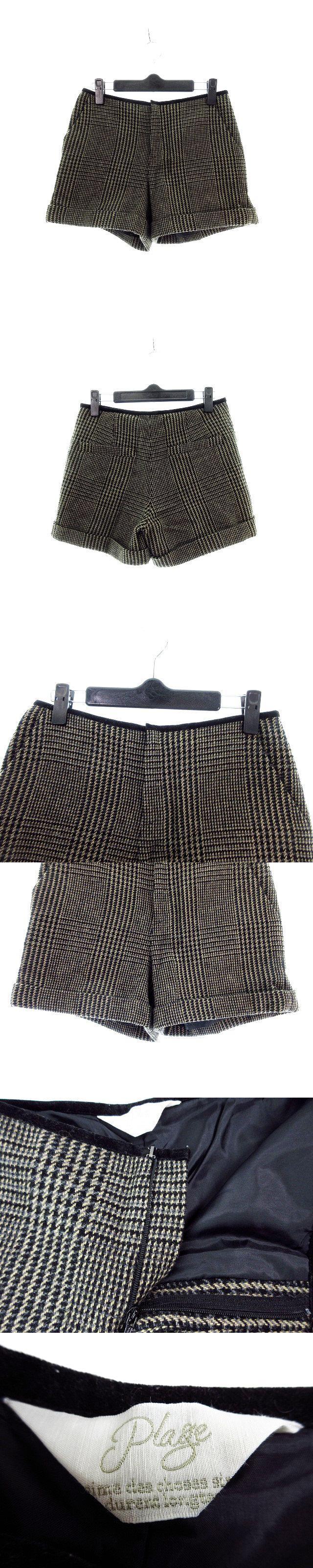 パンツ ショート ショーパン 総柄 34 茶 ブラウン /M2