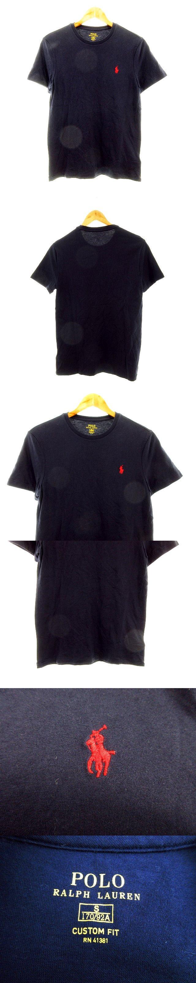 Tシャツ カットソー 半袖 ロゴ S 紺 ネイビー /M2
