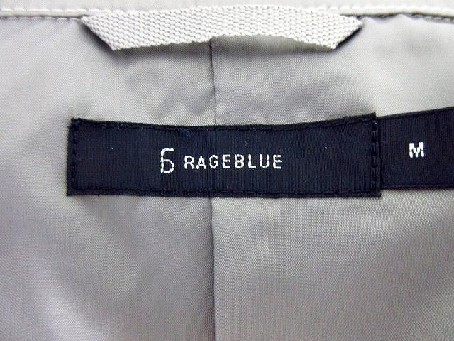 レイジブルー RAGEBLUE コート トレンチ スプリング 無地 M グレー /M2 メンズ