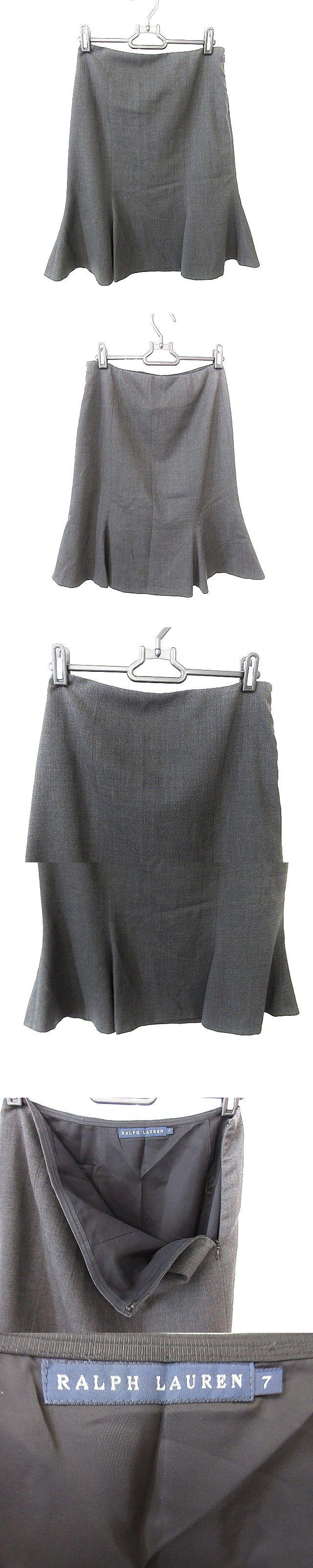 スカート ひざ丈 フレア 7 グレー /AAO49