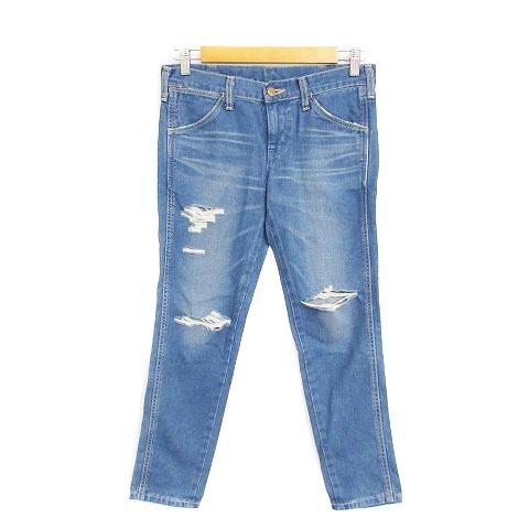 ラングラー WRANGLER パンツ デニム ジーンズ スキニー ダメージ加工 25 青 ブルー /AAM26 レディース