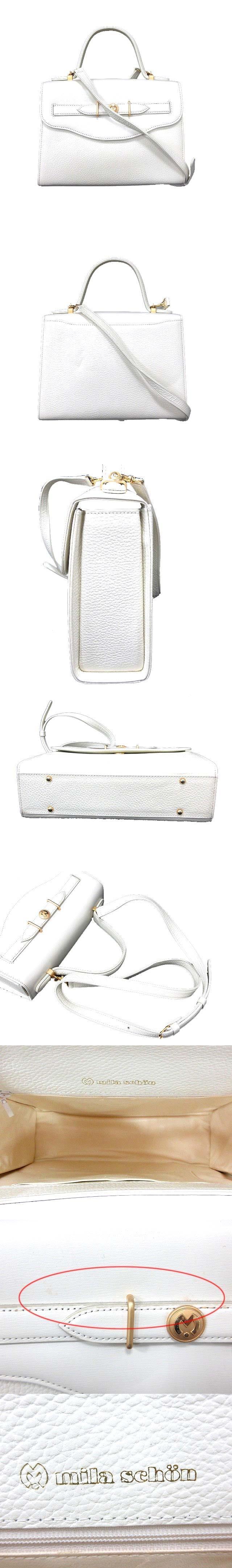 バッグ ハンド ショルダー 2way レザー 白 ホワイト /YK