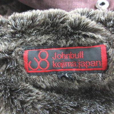 ジョンブル JOHNBULL モッズコート ミリタリー フェイクファー ビンテージ加工 ジップアップ M 茶 ブラウン /CT メンズ