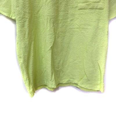 ジャーナルスタンダード レリューム JOURNAL STANDARD relume カットソー 半袖 パイル地 M 黄色 イエロー /YI メンズ