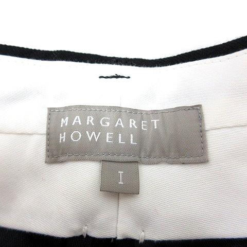 マーガレットハウエル MARGARET HOWELL パンツ スラックス テーパード 麻混 リネン混 1 黒 ブラック /MN レディース