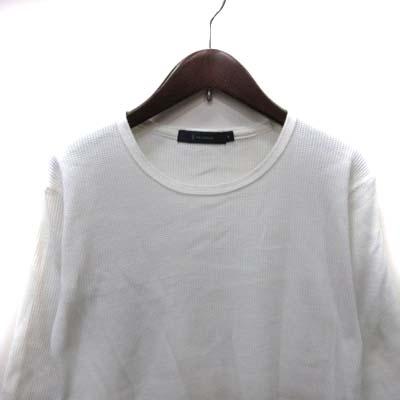レイジブルー RAGEBLUE カットソー ワッフル地 七分袖 S 白 ホワイト /YI メンズ
