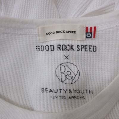 B&Y ユナイテッドアローズ BEAUTY&YOUTH ビューティー&ユース GOOD ROCK SPEED カットソー ワッフル地 七分袖 白 ホワイト /YI メンズ
