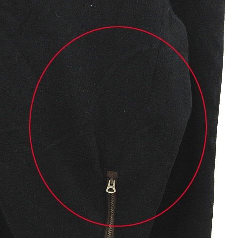 ポロ バイ ラルフローレン Polo by Ralph Lauren スウェット ジップアップ ハイネック ワンポイント 長袖 L 黒 ブラック 茶 ブラウン /MS メンズ