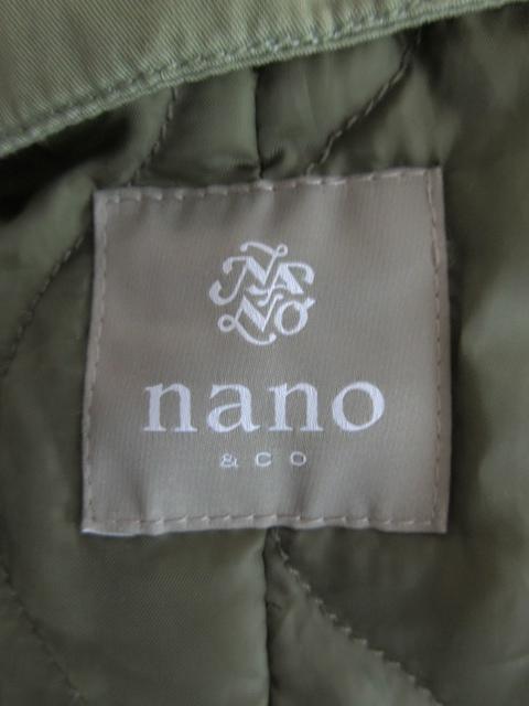 ナノユニバース nano universe nano&co コート モッズ ミリタリー 中綿 NUC74CT1557SL 緑 グリーン カーキ /EK7 メンズ