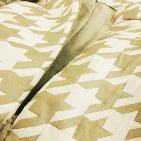 グレースクラス GRACE Class スカート 台形 ミニ キルティング 千鳥 36 ベージュ /CK17 ★ レディース