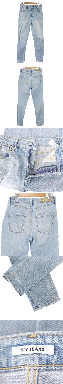 JEANS 17SS パンツ デニム ジーンズ ジップフライ ダメージ加工 26 青 ブルー /M2O